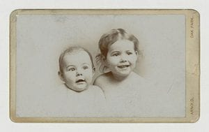 Ernest and Marcelline baby portrait