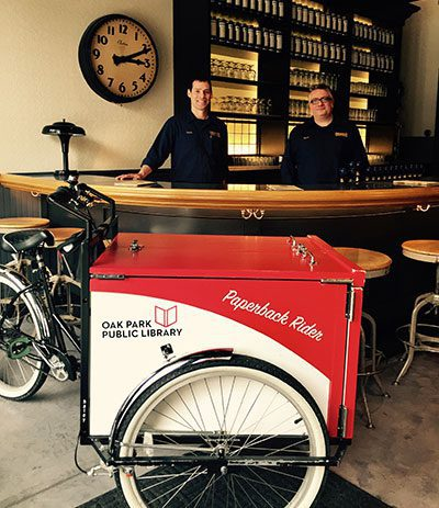 Book Bike inside Kinslahger Brewing Company