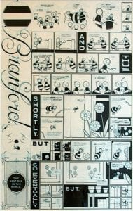 Branford Bee Episode #2, ink and blue pencil on illustration board by Chris Ware