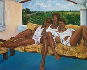 Bajan Queens, oil on canvas by Nancy Fong