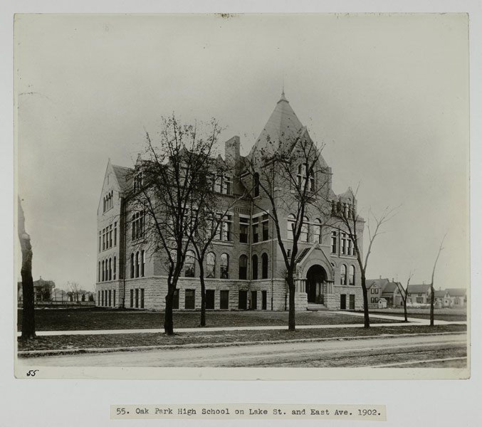 Oak Park High School on Lake St. and East Ave., 1902