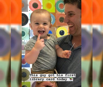 Baby's library card