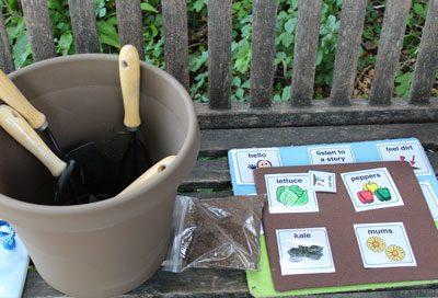 Maze Branch sensory garden tools