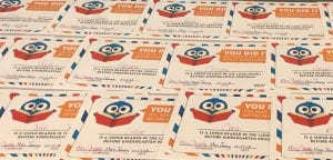 1,000 Books Before Kindergarten graduation certificates