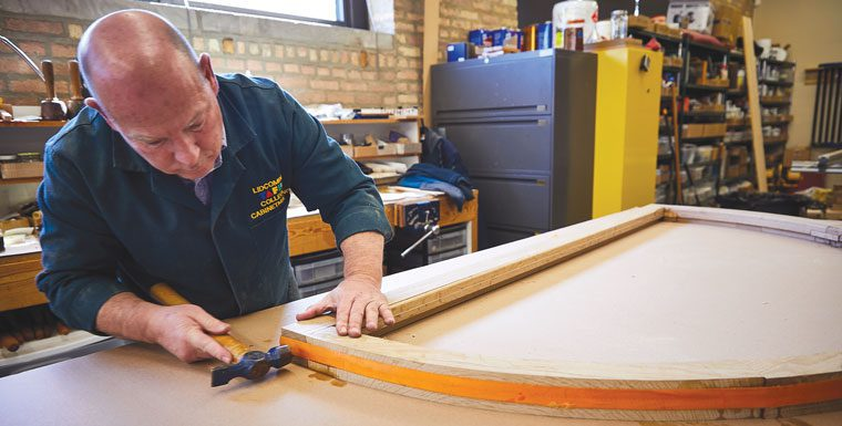 Conservation Center crafts a new frame for the library's Scoville Window