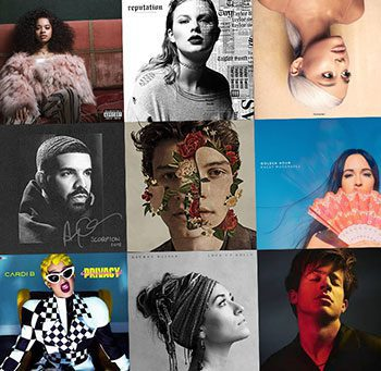 CD covers for Grammy Award-nominated artists