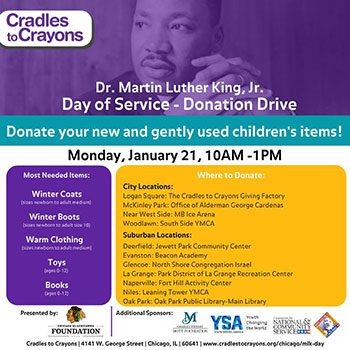 Cradles to Crayons Donation Drive Flyer