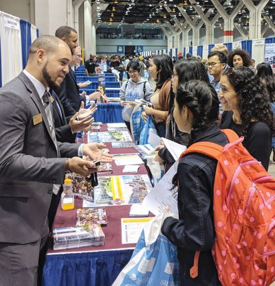 College fair at University of Illinois at Chicago