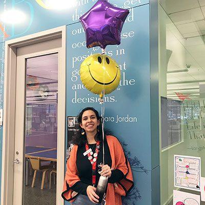 Beronica Puhr in the Children's Department