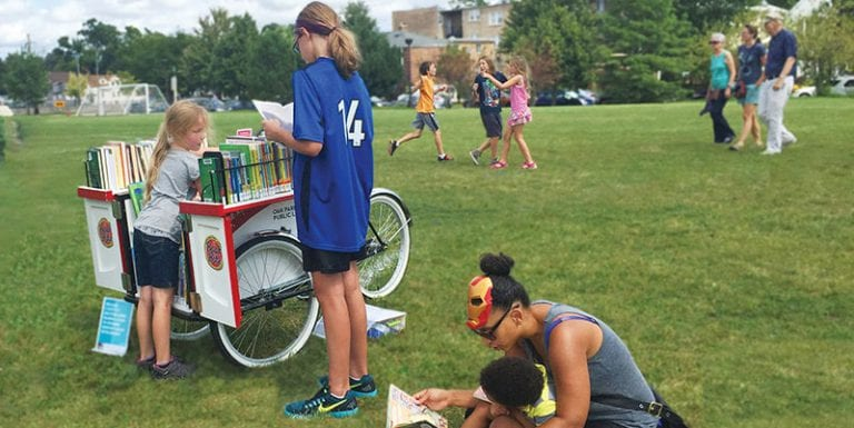 Book Bike at Barrie Park