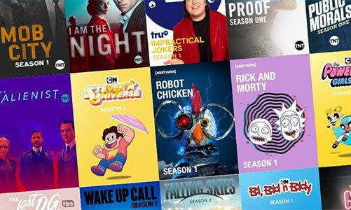 TV shows: Mob City, I Am the Night, Impractical Jokers, Proof, Public Morals, The Alienest, Steven Universe, Robot Chicken, Rick and Morty, The Powerpuff Girls, The Last OG, Wake Up Call, Falling Skies, and Ed, Edd n Eddy