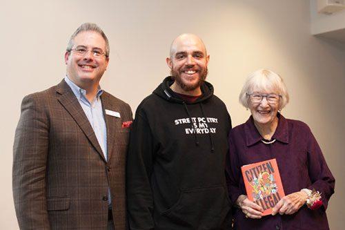 David Seleb, Jose Olivarez, and Barbara Ballinger