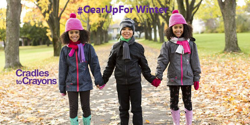 Cradles to Crayons #GearUpForWinter