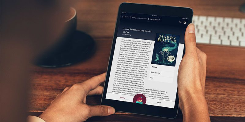 Harry Potter book shown in the Libby app