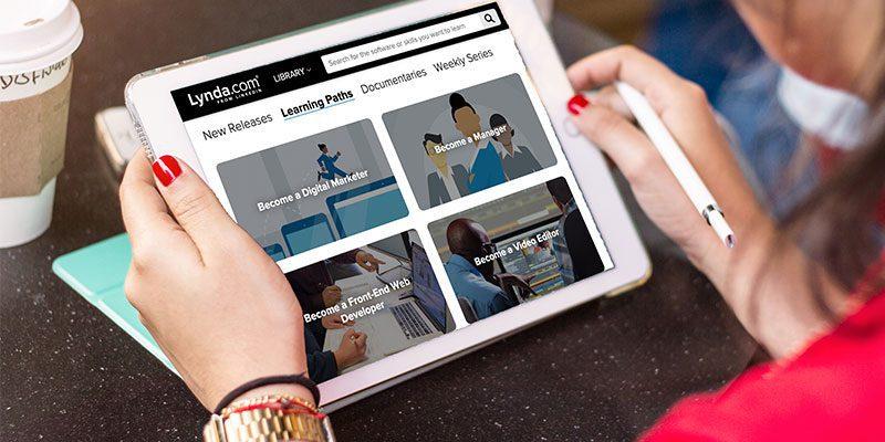 Lynda.com on iPad screen