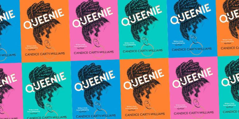 Collage of multiple Queenie covers in a variety of colors
