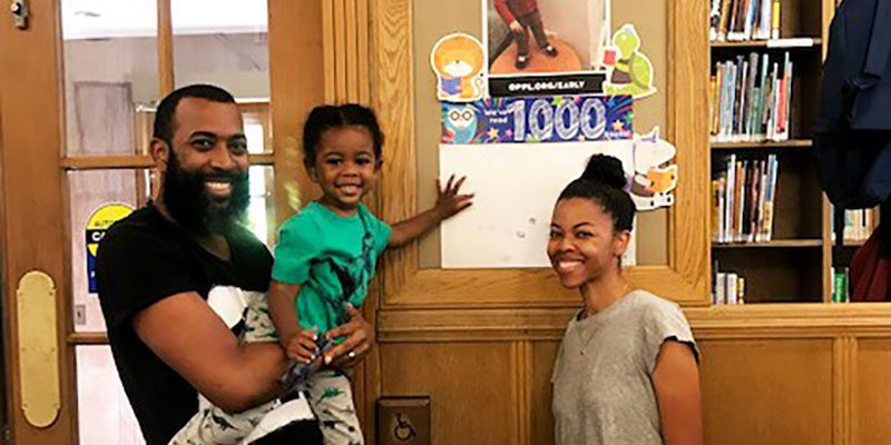 Selassie and family complete 1,000 Books Before Kindergarten