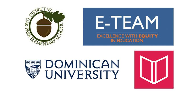 District 97 E-Team Library Dominican logos