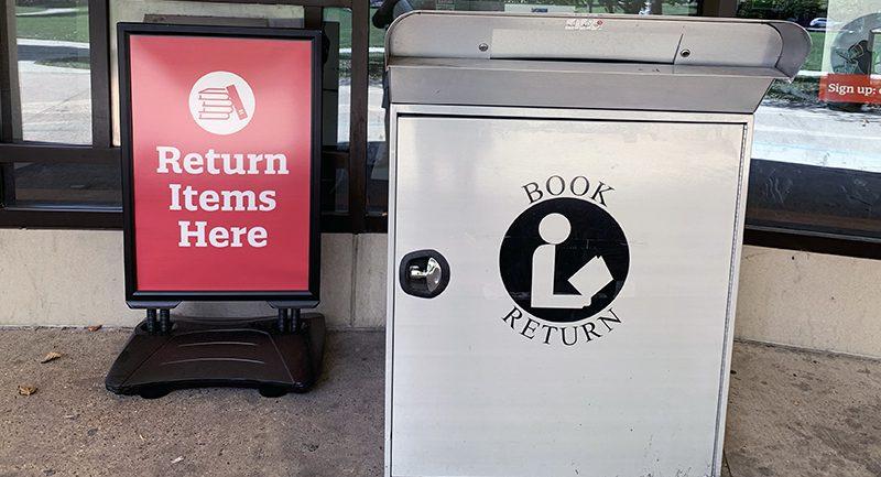 Return items here