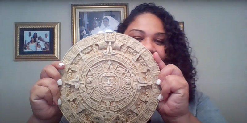 Juanta with Aztec calendar
