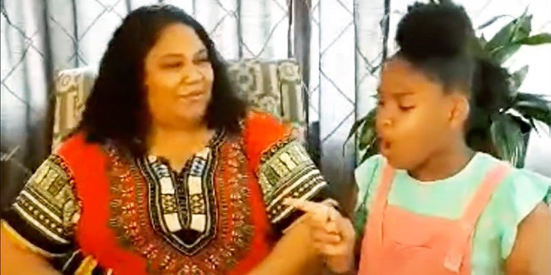 Miss Juanta and her daughter