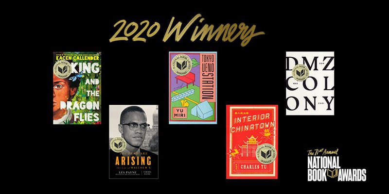 2020 National Book Awards Winners book covers