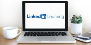 LinkedIn Learning on a laptop screen