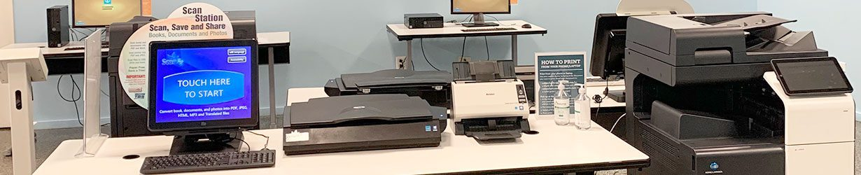 Print, Copy, Scan & Fax station at the Main Library