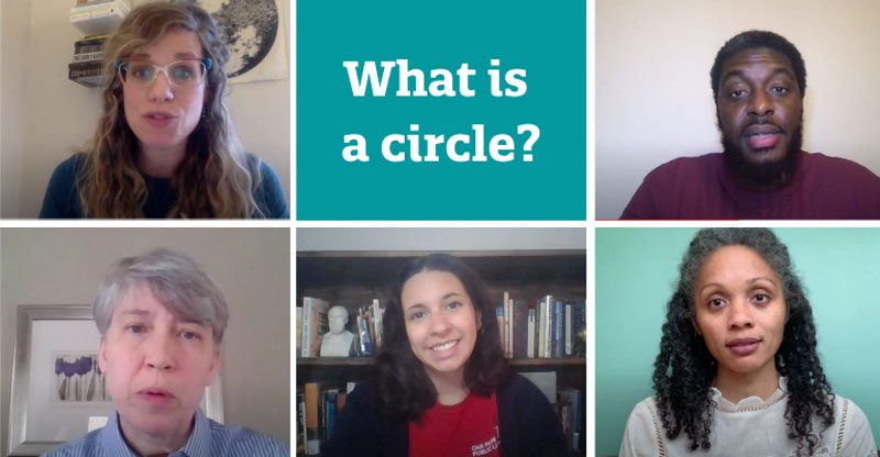 What is a circle? With library staff photo grid