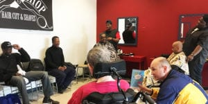 Leading Edge Barbershop at the Main Library in 2019
