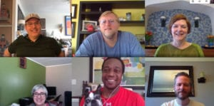 Library leadership team virtual meeting