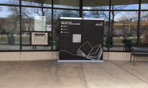 Main Library book drop and locker