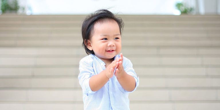 Toddler clapping