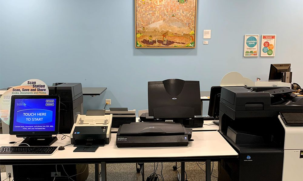 Print, copy, scan, fax station