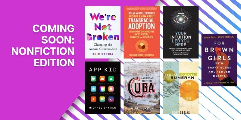 Coming Soon Nonfiction Edition with book covers
