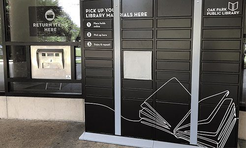 Outdoor Lockers at the Main Library