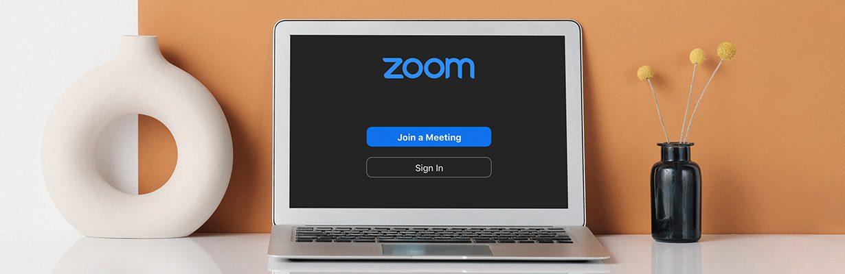 Zoom on laptop