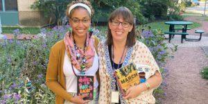 Brooks Middle School teachers Nichelle Stigger and Katy Alejos
