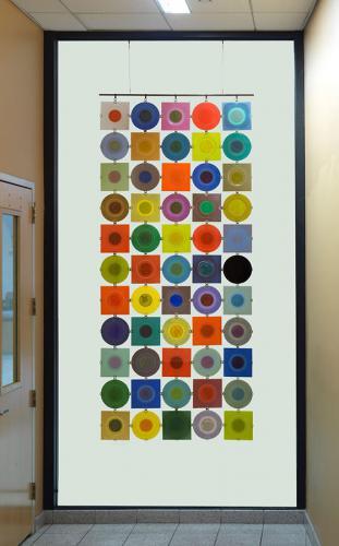 Rondelay, 5x11 matrix, by Higgins Glass, glass