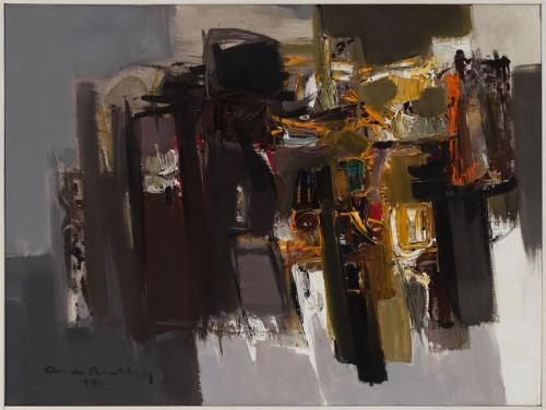 Untitled by Claude Bentley, oil on canvas