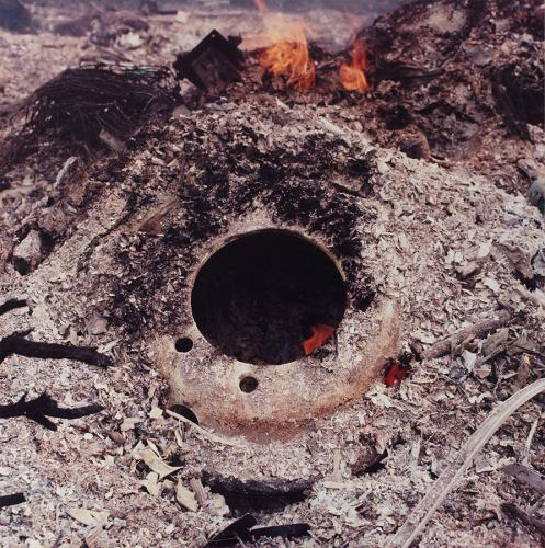 <em>Fire #5</em> by Paul Seawright, color photograph (1 out of 6)