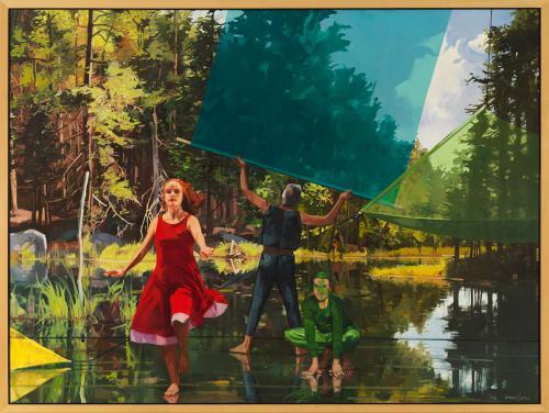 <em>The Frog Prince</em> by John Winslow, oil on canvas
